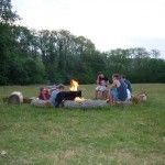 Glamping in West Wales at Cwm Ty Coed.