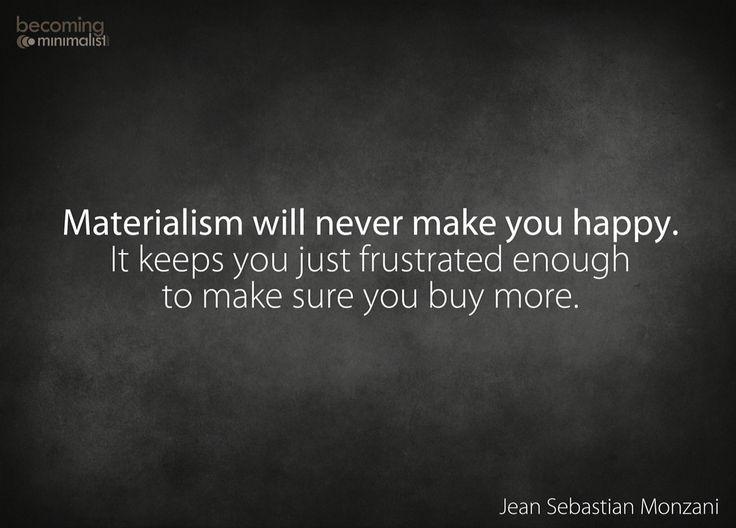Materialistic #becomingminimalist