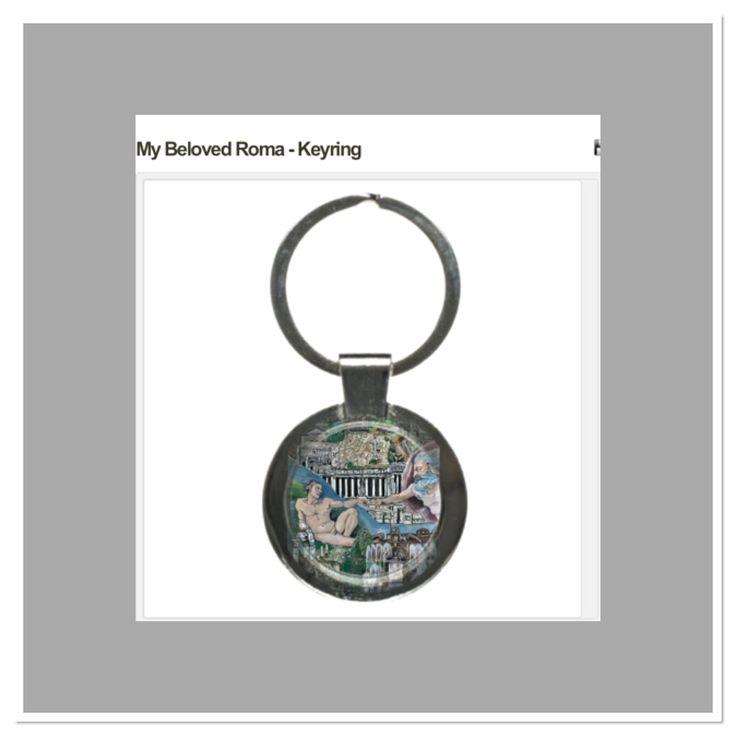 My Beloved Roma Design Key ring