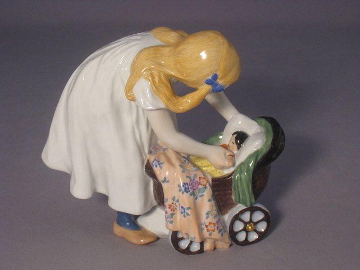 Meissen figure Henschel Child with Baby Strollers by ARTaVIP on Etsy https://www.etsy.com/listing/516014360/meissen-figure-henschel-child-with-baby