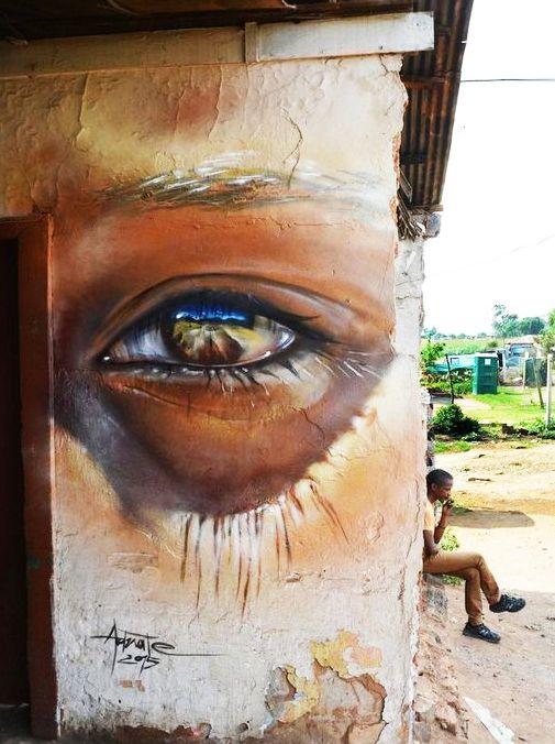 Street Art...by Matt Adnate, Soweto, Johannesburg, South Africa.