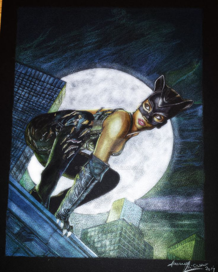 Catwoman 2004 by RikkArt - drawing