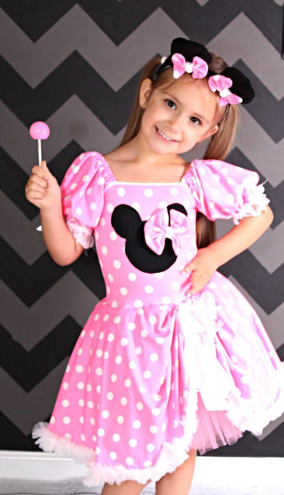 Minnie inspired costume Pink tutu dress size 18 month
