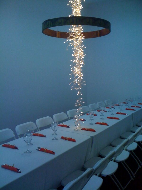 How To String Christmas Lights On Ceiling : 25+ best Lighting Ideas on Pinterest Garden table, Outdoor pole lights and Concrete garden bench