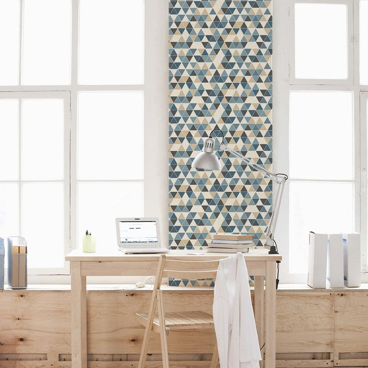 This Triangle Patterned Removable Wallpaper Is Perfect For Renters,  Apartments, Offices And Dorm Rooms.