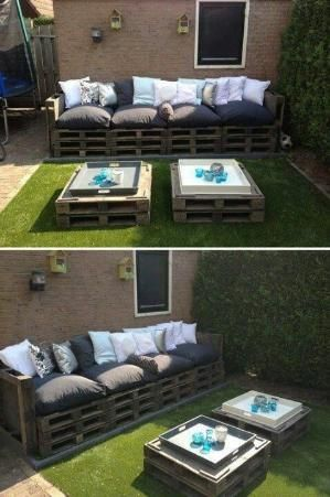 Patio trasero!!!! 101 DIY Projects How To Make Your Home Better Place For Living (Part 3) - Pallet Patio Furniture by agormley
