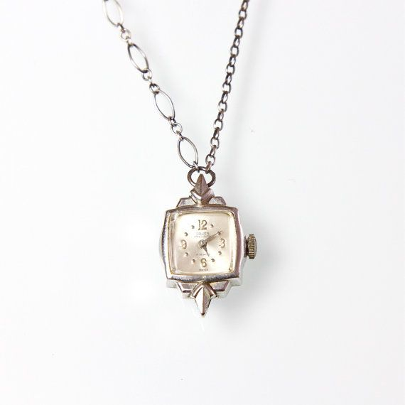 Vintage Watch Necklace by salvagelife