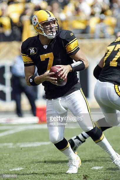 a1f3b5ee5 Ben Roethlisberger of the Pittsburgh Steelers drops back to pass during the  game against the Buffalo Bills on September 16 2007 at Heinz Field in.