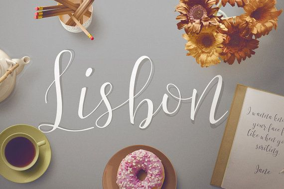 Lisbon Script Font by verotype on Etsy