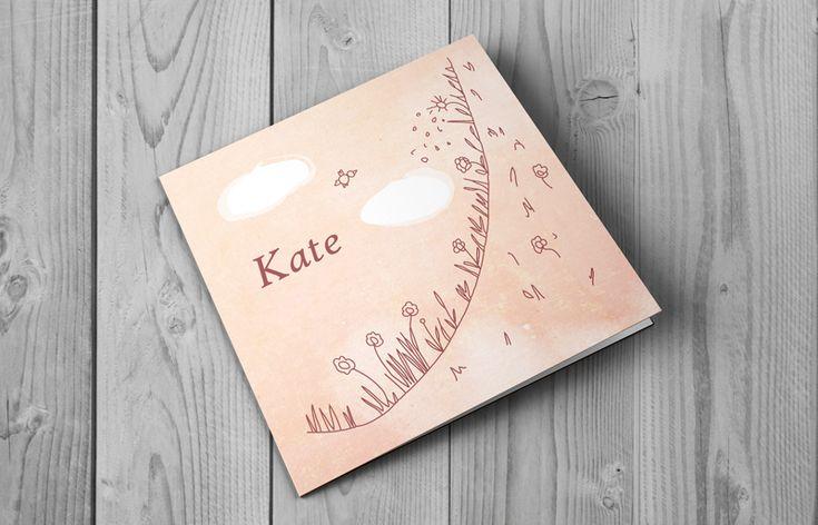 Kate-Geboortekaartje Bloemen    All in prijs incl. opmaak en snel verzenden   BrengOver Kaartjes