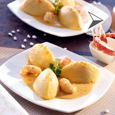 Quenelles de poissons, sauce langoustine avec Cook'in
