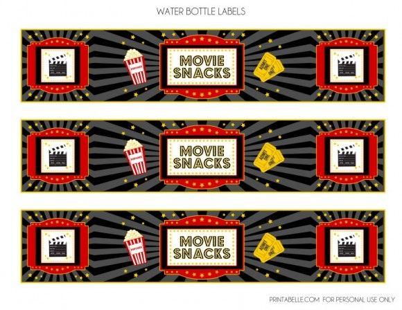 free movie night party printables
