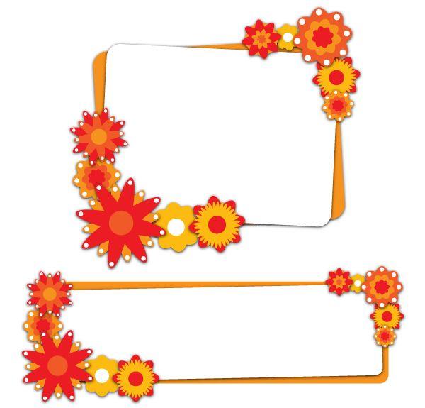 Flower Banners Free Vector Illustration