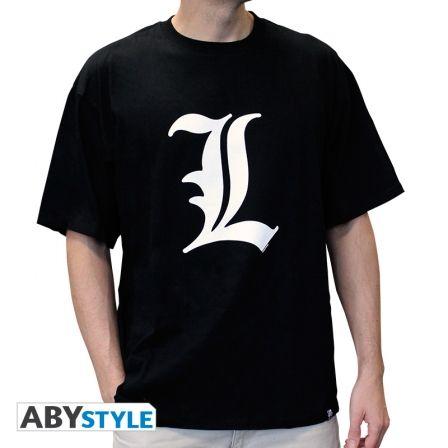DEATH NOTE T-shirt Death Note L tribute homme