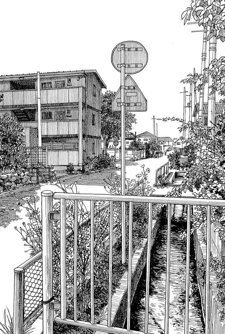 Elartista japonés Kiyohiko Azuma (あずまきよひこ) es famoso por susmangasperoes ver los dibujos a tinta que hace de las calles, edificios, los caóticos pósters eléctricos tan japoneses y uno se queda con la boca abierta. Toca hacer un pequeño repaso a algunos de sus espectaculares dibujos.