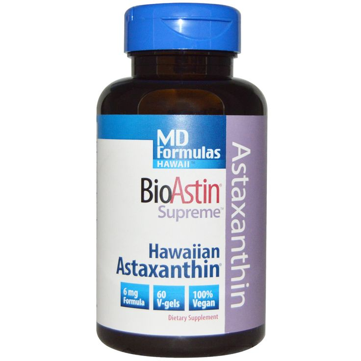 Nutrex, MD Formulas Hawaii, BioAstin Supreme, 6 mg, 60 V-Gels - iHerb.com