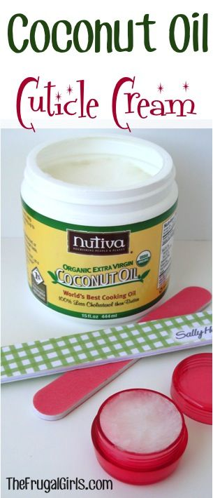Coconut Oil Cuticle Cream! ~ from TheFrugalGirls.com {repair those dry cuticles with this simple little trick!} #coconutoil #nails #thefrugalgirls
