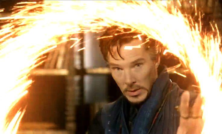Dr. Strange's fireworks.