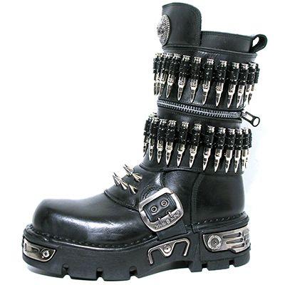 New Rock Boots 301-C1 New Reactor Black