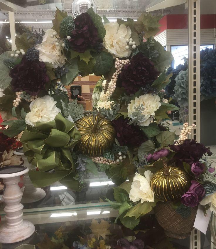 Fall centerpiece and wreath floral design tara