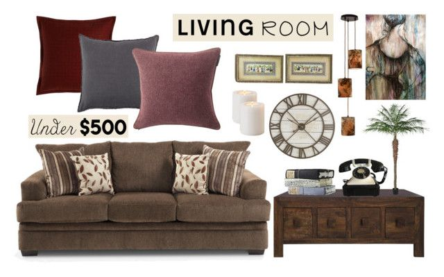 """Living Room Under $500"" by emiliamariaa on Polyvore featuring interior, interiors, interior design, home, home decor, interior decorating, Pier 1 Imports, Storm Furniture, Jane Wilner Designs and Pom Pom at Home"