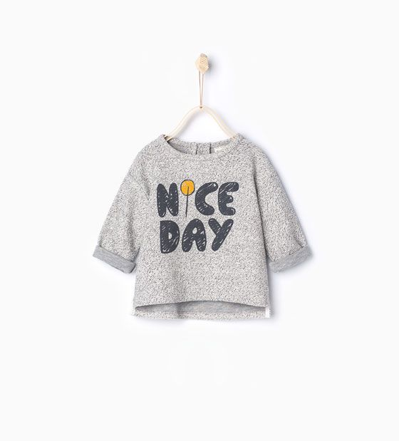 Slogan sweatshirt