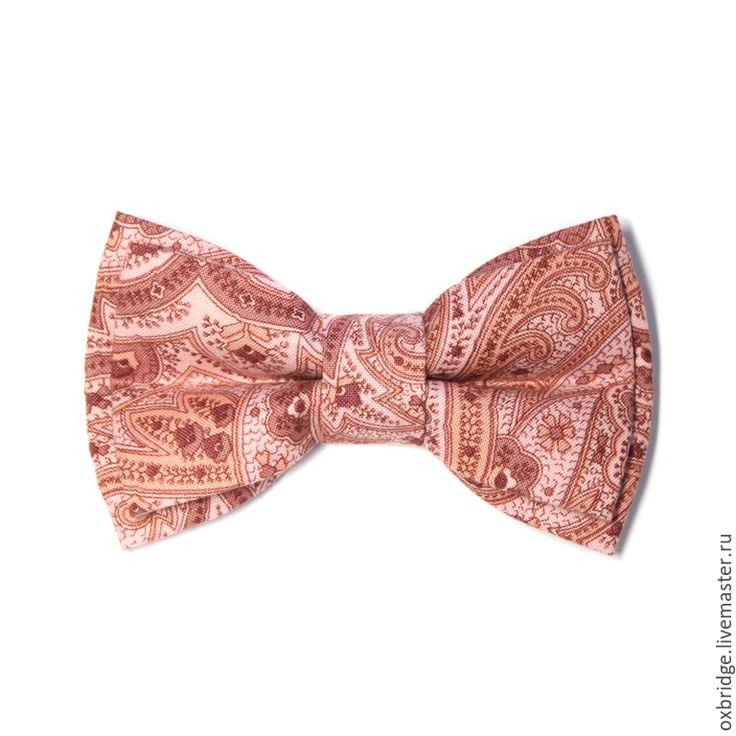 Купить Галстук бабочка розового цвета / Бабочка галстук / Бабочка пейсли