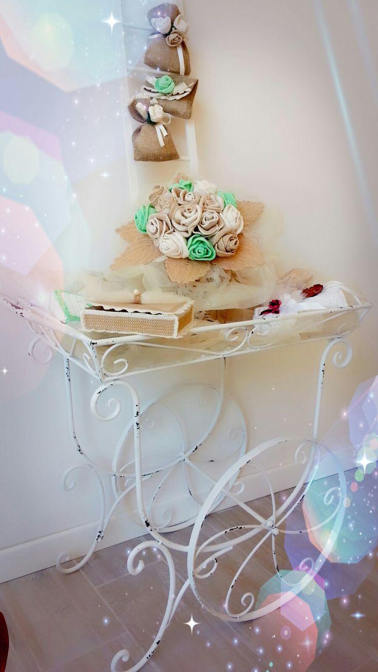 bouquet portafedi bomboniera