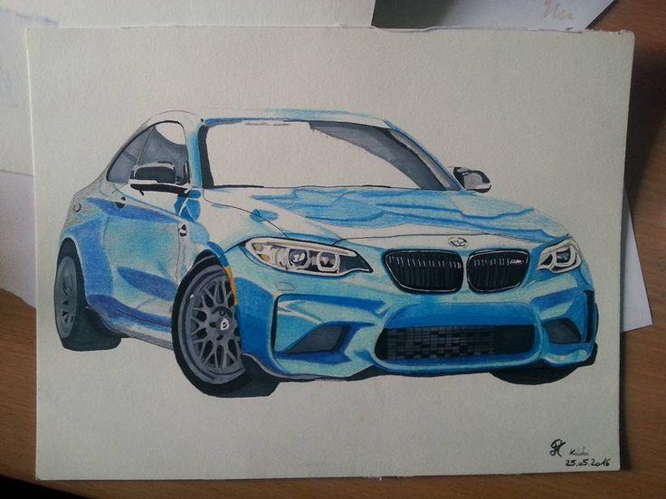 #BMW '#M2 #blue #drawing #Munich #d4design #copics