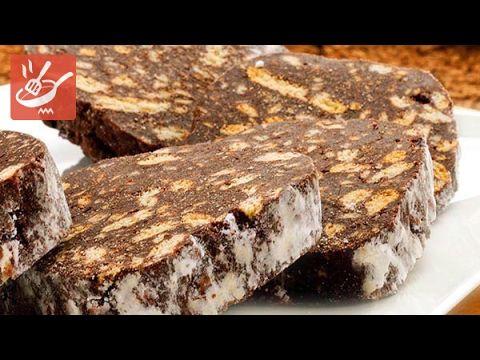Salame al cioccolato fondente senza uova (Spadellandia)