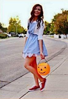 A Brunette's Halloween