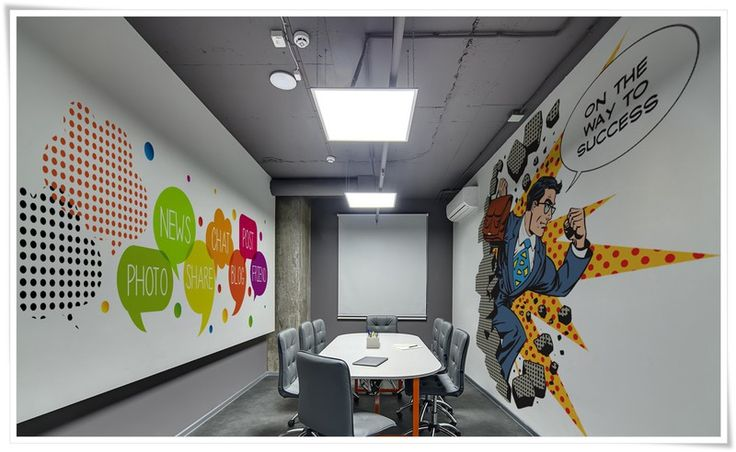 Nowoczesna tapeta do biura wystrój wnętrz biurowych Dekea