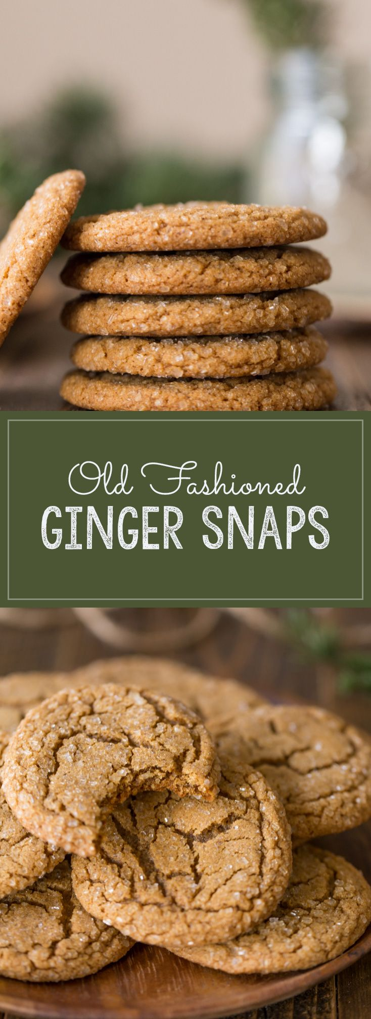 I love these Old Fashioned Ginger Snaps with their sparkling sugary exterior, crisp edge and slightly chewy center!