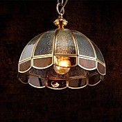 Brass Pendant Lamp, One Light, Vintage Total ... – EUR € 138.59