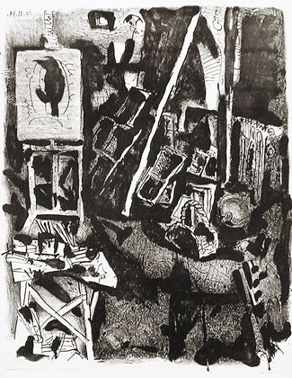 L'Atelier (Bloch 576) 1948 (10 November) Lithograph printed on Arches wove One of six artist's proofs Marina Picasso Collection oval stamp verso Printed by Mourlot