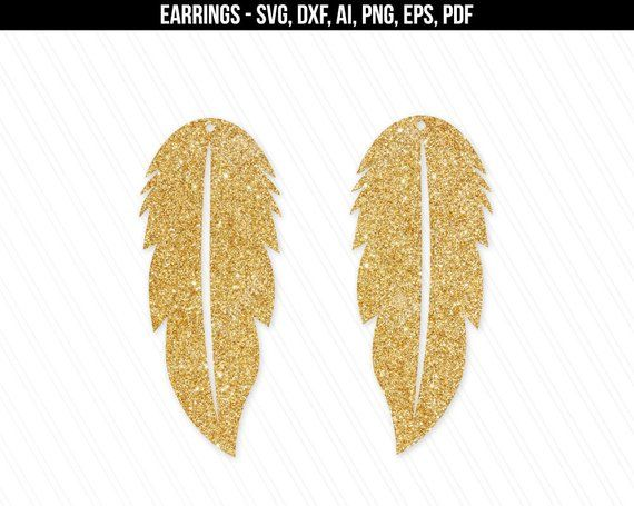 Earrings svg, Feather earrings svg, Jewelry svg, leather jewelry, Cricut silhouette, Earrings vector