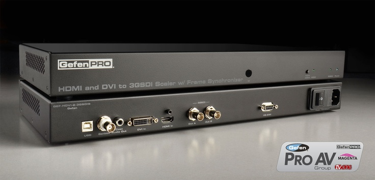 Broadcasters rely on professional #AV solutions that connect and control large, complex arrays of SG-SDI video equipment in their TV stations. The new GefenPRO HDMI and DVI to 3GSDI Scaler seamlessly integrates thanks to its Genlock feature and frame synchronization, facilitating the use of content from #HDMI and #DVI sources in demanding live broadcasting or editing conditions.     http://www.gefen.com/kvm/gef-hdvi-2-3gsdis.jsp?prod_id=11269