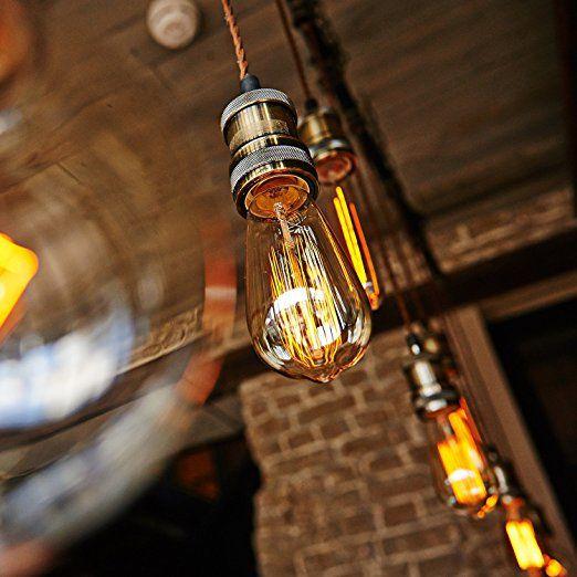 6-Pack Edison Light Bulb, Antique Vintage Style Light, Amber Warm