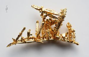 What to Know About Gold Alloys in Jewelry: These are crystals of pure gold metal, which is 24k gold.
