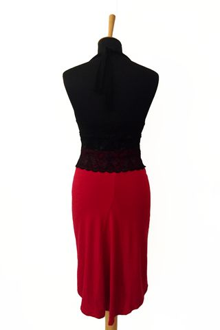 New Design!!  Red Tango Skirt with Small Tail  Available in many colors    #tangoskirt #tangoclothes #argentinetango #tangooutfit #womens #elegant