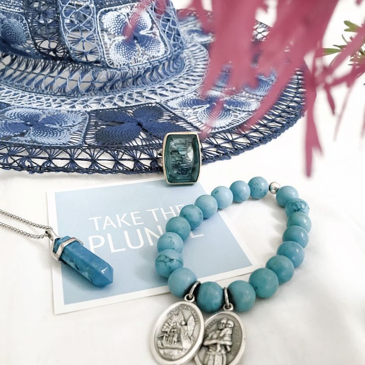 Take the plunge! http://instagram.com/pintofprints https://www.lacedwithkindness.com/products/blue-howlite-pendant https://www.lacedwithkindness.com/products/bracelet-blue-howlite