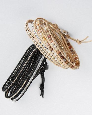 Chan Luu Mixed-Stone Wrap Bracelet