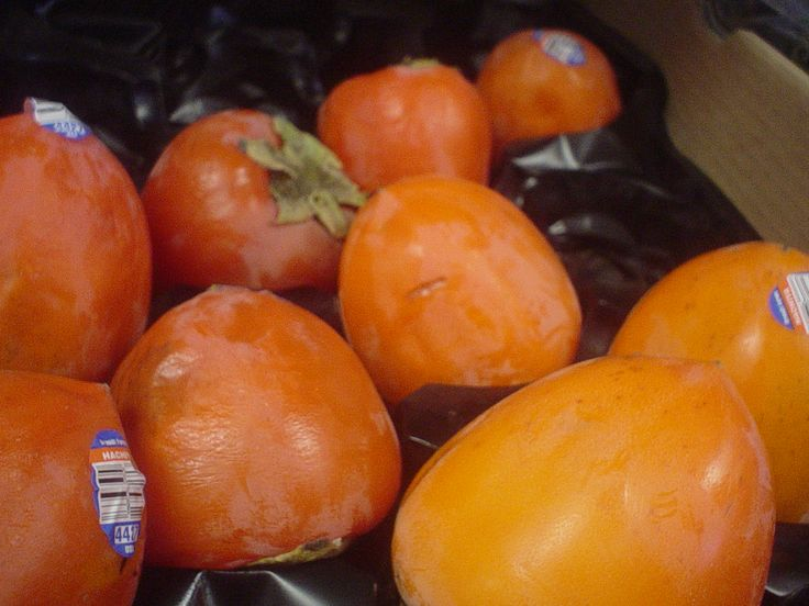 Lots of persimmon fruit in to enjoy before the holidays! So luxurious, and they're ready to eat!