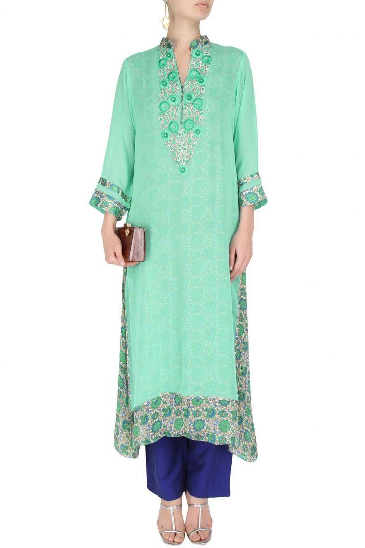 #bluedesigns #labelsurabhiarya #surabhiarya #studioingurgaon #shopsoon #classictunics #intricateembroidery #delhifashion #indianwear #designstoflaunt