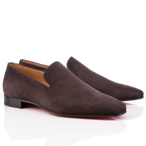Christian Louboutin Dandy Loafers Brown Suede