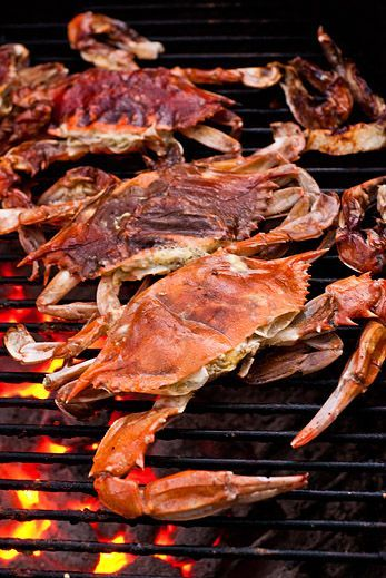 Grilled Soft Shell Crab (via Monahans Seafood Market)