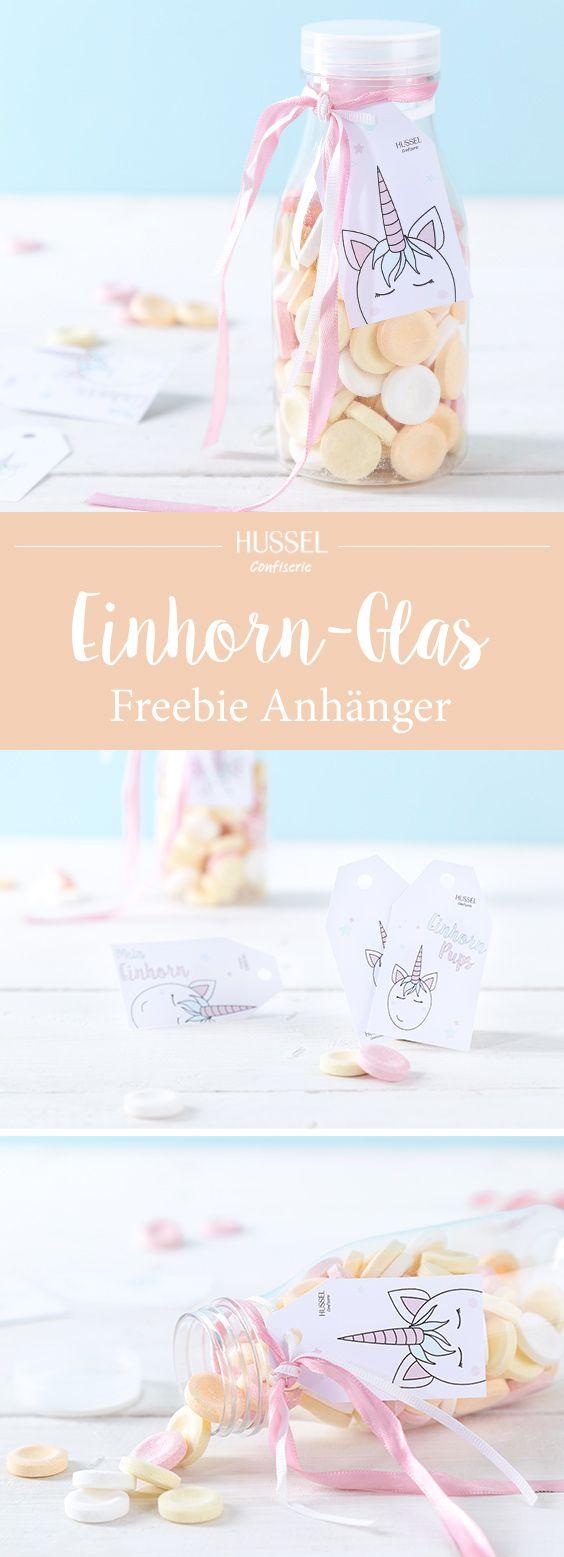 Zauberhafte Einhorn Geschenkanhänger – Freebie | Hussel Magazin