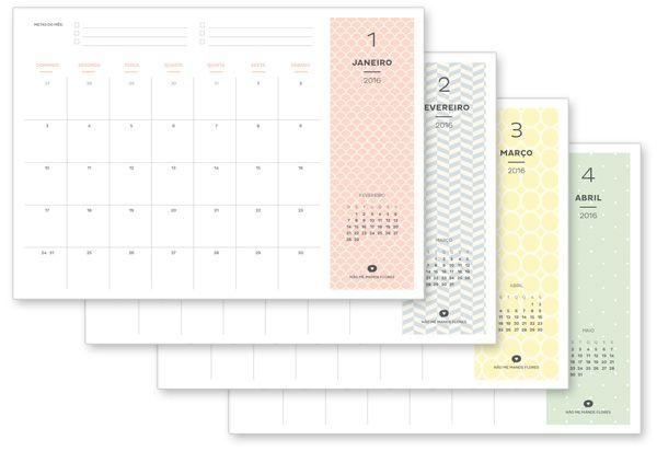 Planner Mensal 2016 | Blog Não Me Mande Flores