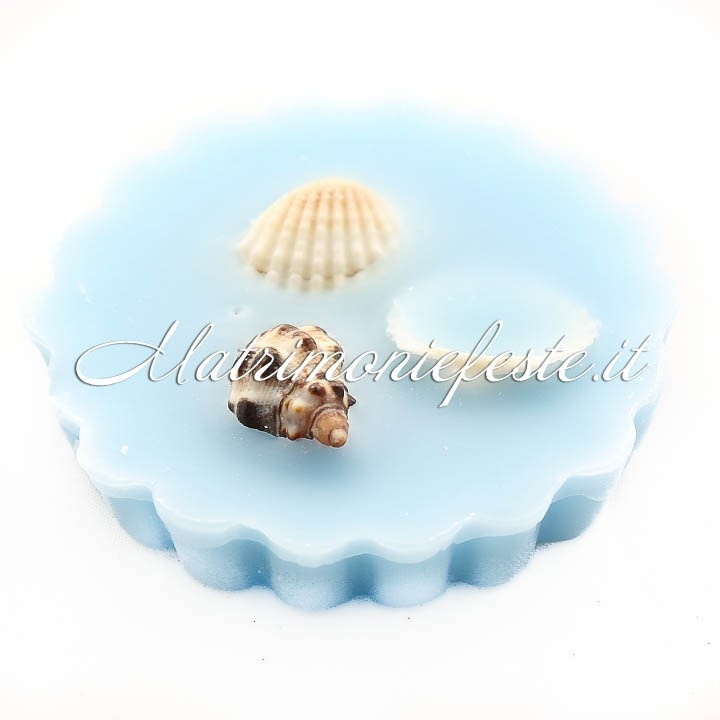 """Cera profumata """"Oceano"""" con conchiglie - Prodotti per Tema Mare - MATRIMONIO - Accessori e gadget per matrimoni e feste - Matrimoni e feste"""