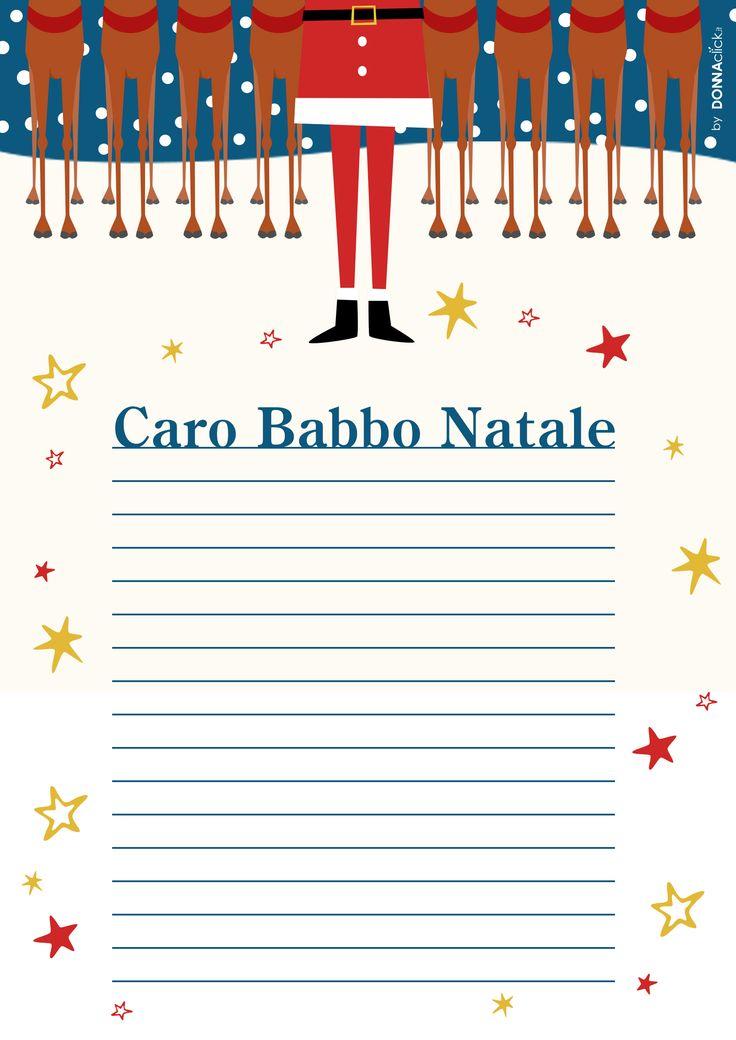 Lettera per i bambini da stampare e scrivere a Babbo Natale